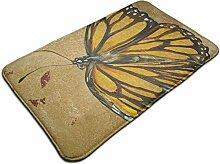 Türmatte mit Schmetterlingsdruck Badematte