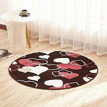 Türmatte, Rattan Stuhl Kissen Matte, runden Teppich, Wohnzimmer Schlafzimmer Teppich , 7 , diameter 80cm