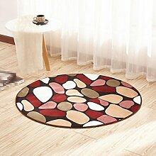 Türmatte, Rattan Stuhl Kissen Matte, runden Teppich, Wohnzimmer Schlafzimmer Teppich , 1 , diameter 120cm