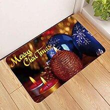 Türmatte Teppich,3D Christmas Rote Kerze