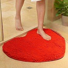 Türmatten, Badezimmer Foyer Badezimmermatte, absorbierende Matte, Schlafzimmer Matratze, Bad Matte, 60 * 70cm Matte ( farbe : Rot , größe : S )