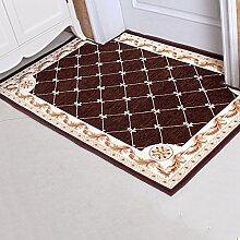 Türmatten Einfache moderne Matte Farbe Größe Optional Home Wasserdicht Anti-Rutsch Tür Matte ( Farbe : #1 , größe : 60*90cm )