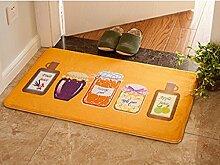 Türmatten Fußmatte Wohnzimmer Küche Schlafzimmer Halle zu Hause lange absorbierende Matte Badematte