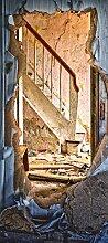 Türposter 76x200cm Lost Place Türaufkleber