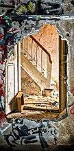 Türposter 87x200cm Verlassener Ort Türaufkleber