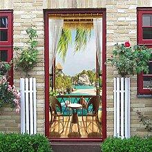 Türposter Fensterbrett 3D Türaufkleber