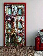 Türposter Fensterfasade 100x200cm Türfolie