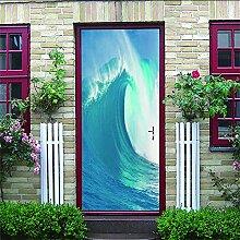 Türposter Selbstklebend 3D Surfen 3D