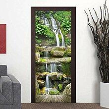 Türposter Selbstklebend 3D Wasserfall 3D
