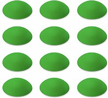 Türpuffer / Wandpuffer (12 Stk.) / Türstopper selbstklebend   12er Set   Sossai® TP60   Ø : 60 mm   Farbe : Grün   Material : Polyethylen
