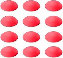 Türpuffer / Wandpuffer (12 Stk.) / Türstopper selbstklebend | 12er Set | Sossai® TP60 | Ø : 60 mm | Farbe : Rot | Material : Polyethylen