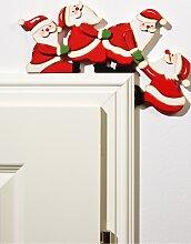 Türrahmendeko Santa Claus, rot