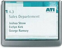 Türschild ABS B.149xH.105,5mm Sichtfenster Acryl