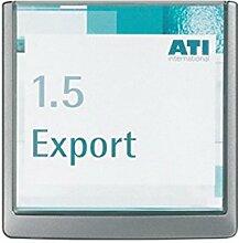 Türschild ABS B.149xH.148,5mm Sichtfenster Acryl