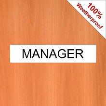 Türschild/Aufkleber für Manager 5507BKW, einfach