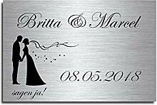 Türschild Familienschild Hochzeitsgeschenk