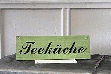"""Türschild , Hinweischild – Dekoration aus Holz """"Teeküche"""" - zum Aufhängen"""