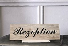 "Türschild , Hinweisschild – Dekoration aus Holz ""Rezeption"" - zum Aufhängen"