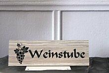 """Türschild , Hinweisschild – Dekoration aus Holz """"Weinstube"""" - zum Aufkleben"""
