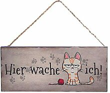 Türschild Kranz Türkranz Metall Hund oder Katze