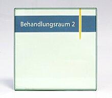 Türschild System, 150 x 150 x 9mm, Acryl Glaslook