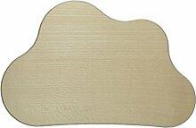 Türschild Wolke 21cm aus Holz natur zum Basteln Bemalen Dekorieren - ideal für Kinderzimmer - 1 Stück