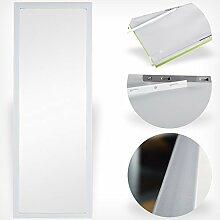 Türspiegel Tür Spiegel Hängespiegel Rahmenspiegel 35x95cm schwarz weiss (weiß)