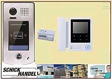 Türsprechanlage mit Video und Zutrittkontrolle über RFID Station DT601S/ID +DT24 Sprechanlagen Monitor 1 Monitor