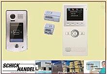 Türsprechanlage mit Video und Zutrittkontrolle über RFID Station DT601S/ID + DT16 Sprechanlagen Monitor 1 Monitor weiß