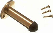 Türstopper Aufenthalt Säule Typ 63mm 2 1/2 Zoll Solide Messing poliert mit Schrauben