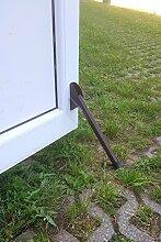 Türstopper aus Metall Türhalter lackiert Farbe braun mit Gummi Aufsatz für Außen und Innen