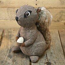 Türstopper, aus Stoff, mit Squirrel Eichhörnchen Türstopper braun