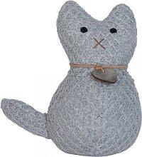 Türstopper CAT KATZE mit Herz grau D. 10cm H. 20cm Clayre & Eef (11,95 EUR / Stück)