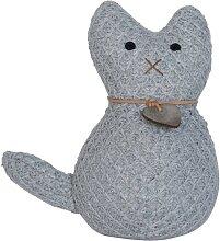 Türstopper CAT KATZE mit Herz grau D. 10cm H.