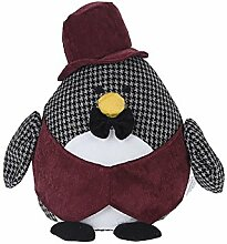 Türstopper gefüllt Türfeststeller Türhalter Stofftier Maus Pinguin Igel Stopper, Design:Pinguin
