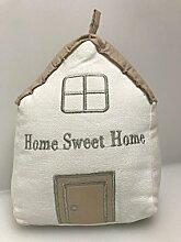 Türstopper Haus Baumwolle Beige Braun 20x10cm Home Sweet Home Braun Beige
