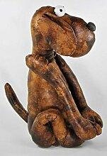 Türstopper Hund braun, Lederoptik, H 40,5 cm, 1,4