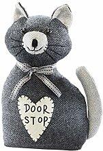 Türstopper Katze Türpuffer Bodentürstopper schwarz aus Stoff gefüllt mit Sand Stoff Hundertprozent Polyester