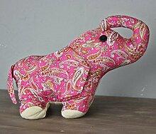 Türstopper Kissen Doorstop Füllung Sand (Elefant rosa)
