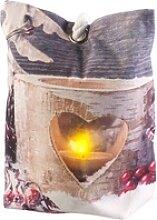Türstopper-Kissen mit Teelicht-Motiv, LED,