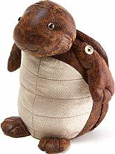 Türstopper Schildkröte 32cm I Dekorativer Vintage Look I Schwere Füllung I Deko Fensterstopper I Tier I Boden I Puffer