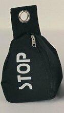 Türstopper schwarz mit Metallgriff 'Stop'