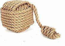 Türstopper Seil Knäuel quadratisch mit Haken aus