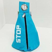 Türstopper Stoff Sack verschiedene Farben 1,0 Kg Tür Stopper Stop Sack Halter Puffer Türpuffer (Blau)