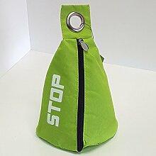 Türstopper Stoff Sack verschiedene Farben 1,0 Kg Tür Stopper Stop Sack Halter Puffer Türpuffer (Grün)
