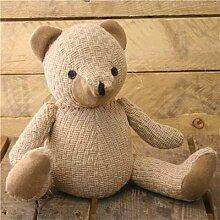 Türstopper Teddybär In Beige Seil Schnur ~