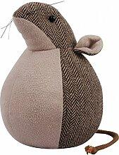 Türstopper Türpuffer Wandschutz Türhalter Maus braun Polyester Baumwolle