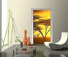 Türtapete Afrika Tapete Kunstdruck Türbild M0042 | 70 x 200cm (B x H) | Papier