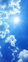 Türtapete Blauer Himmel TT254 90x200cm Tapete Wolken Sonne Blau