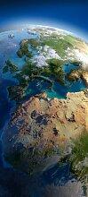 Türtapete Blauer Planet Europa TT264 90x200cm Tapete Erde Weltall Plane